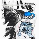 accidental art series robot girl and rottweiler by alistair mcbride