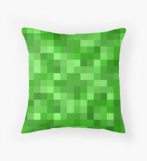 Minecraft Creeper replica Throw Pillow