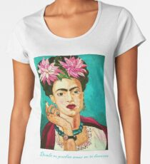 Frida Khalo   Painting [MS01] Women's Premium T-Shirt