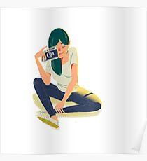 Leica Girl Poster