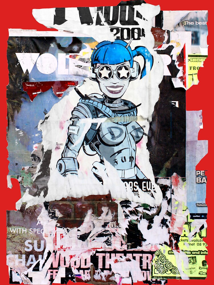 accidental art series robot girl 2 by alistair