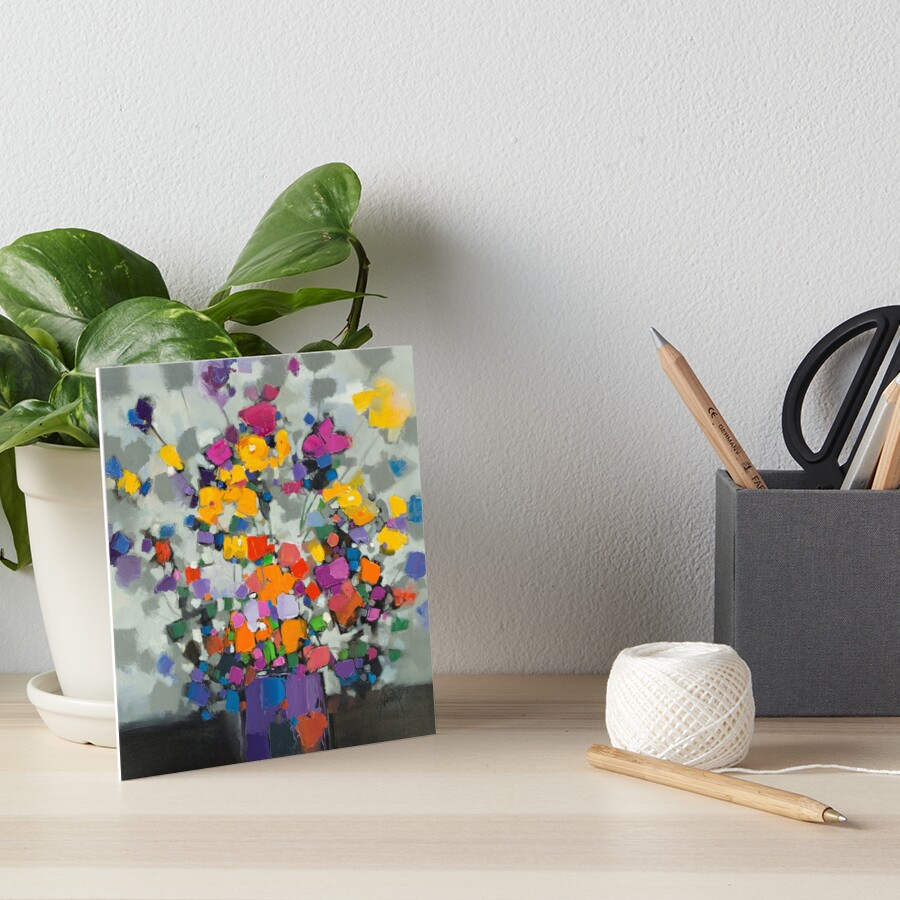 Floral Spectrum 2 Art Board Print