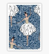 Swan Lake Snowstorm Sticker