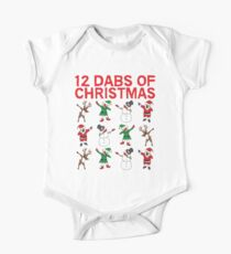 12 Dabs of Christmas T-shirt One Piece - Short Sleeve