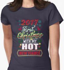 First Christmas With Hot New Fiance Engaged Couple Women's Fitted T-Shirt