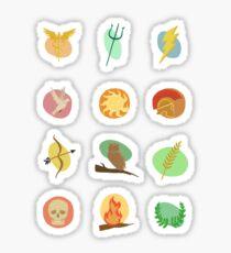 Greek Gods Mythology Repeat Pattern - Percy Jackson Inspired Sticker