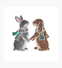 Watercolour bunnies Photographic Print
