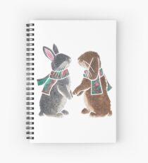 Watercolour bunnies Spiral Notebook