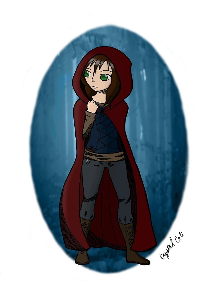 Red Hooded Huntress by CrystalCali