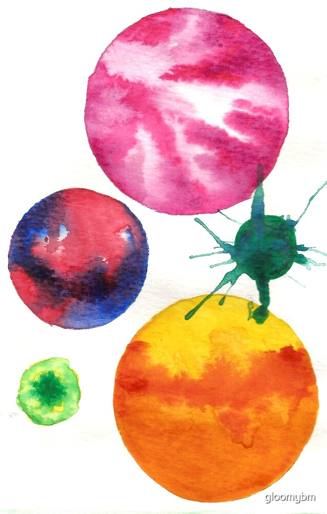 watercolour circles 2 by gloomybm