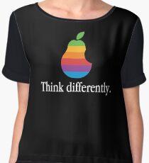 Pear Apple Parody Funny Retro Chiffon Top