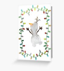 Christmas Snowman Inspired Silhouette Greeting Card