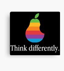 Pear Apple Parody Funny Retro Canvas Print