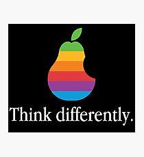 Pear Apple Parody Funny Retro Photographic Print