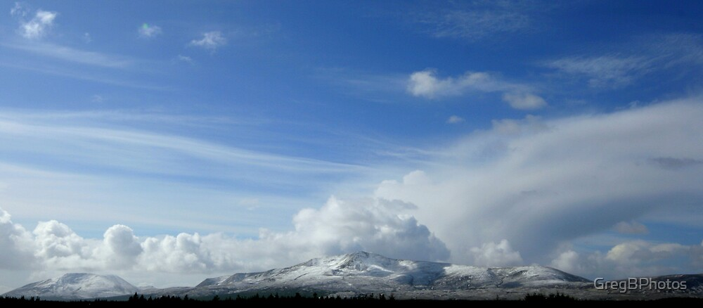 Snow on the Mountains by GregBPhotos