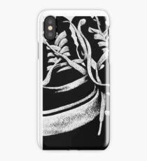 Scratchboard Hightop Shoes iPhone Case/Skin