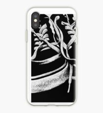 Scratchboard Hightop Shoes iPhone Case