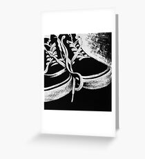 Scratchboard Hightop Shoes Greeting Card