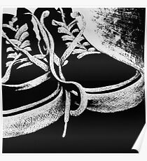 Scratchboard Hightop Shoes Poster