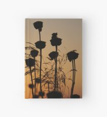Beautiful yellow and brown Sunset over plants in Crete, Greece Hardcover Journal