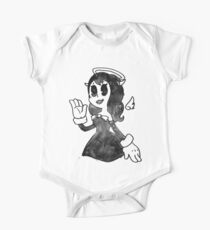 Water Color Ink Machine Angel One Piece - Short Sleeve