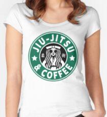 JIU JITSU AND COFFEE - FUNNY BRAZILIAN JIU JITSU Women's Fitted Scoop T-Shirt