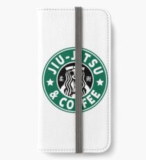 JIU JITSU UND KAFFEE - LUSTIGE BRASILIANISCHE JIU JITSU iPhone Flip-Case/Hülle/Klebefolie