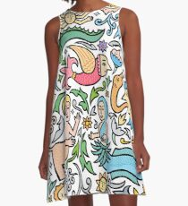 Many many monstrous things A-Line Dress