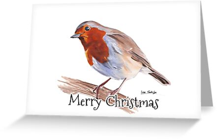 Robin - Merry Christmas Card by Luke Tomlinson