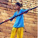 Tightrope Walker in Jaisalmer, India by Bev Pascoe