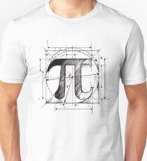 Camiseta ajustada Pi Symbol Sketch
