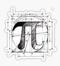 Pi Symbol Sketch Sticker