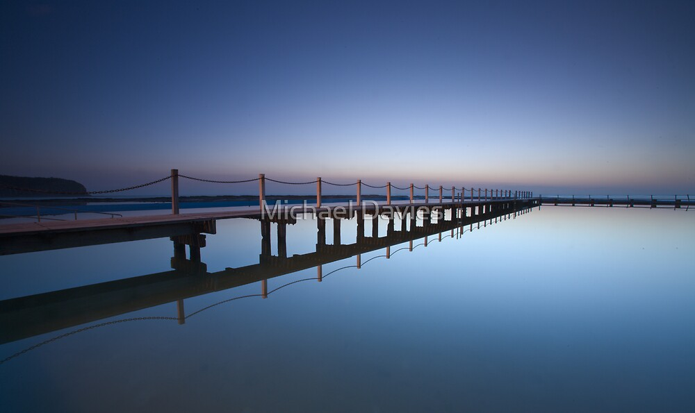 Narrabeen Pool Sunrise by Michael Davies