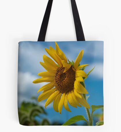 Sunflower and Blue Skies Tote Bag