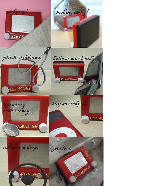 a day in the life of an etch-a-sketch by Tiffikins