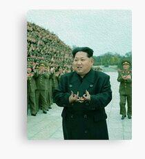 Kim Jong Un-  Bloods Canvas Print