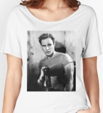 Brando Holds a Beer Bottle Women's Relaxed Fit T-Shirt