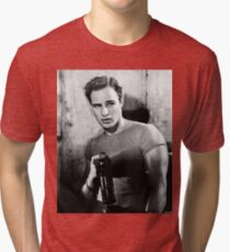 Brando Holds a Beer Bottle Tri-blend T-Shirt