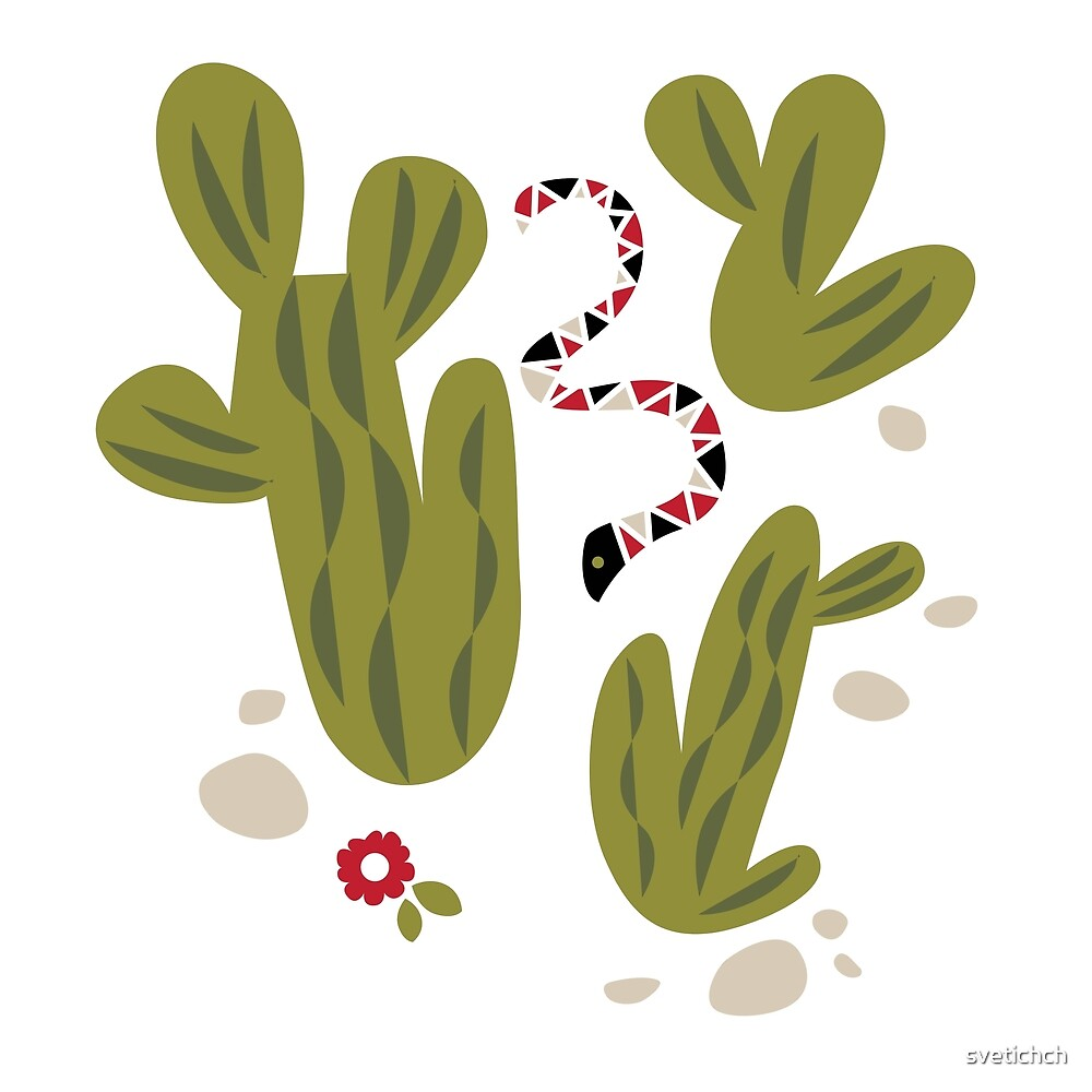 Vector illustration set of Mexico, snake, cactus, flowers  for printed on notebooks, t-shirts, bags, posters by svetichch