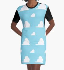 Clouds Graphic T-Shirt Dress