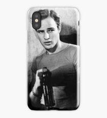 Brando Holds a Beer Bottle iPhone Case/Skin