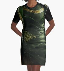 It's tricky, looking good in green Graphic T-Shirt Dress