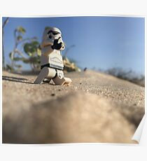 Beach walking stormtrooper Poster