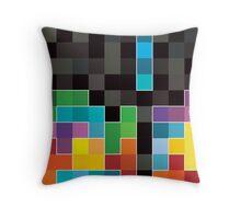 Mosaic 1494 - Tetris Mosaic Throw Pillow