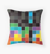 Mosaic 1494 - Tetris Mosaic Throw Pillow