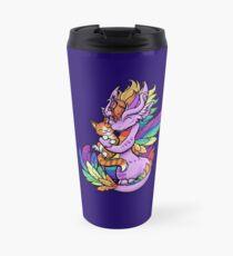 Taza de viaje Rainbow Dragon con Kitty Friend