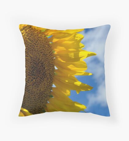 Sunny Faces and Blue Skies Throw Pillow