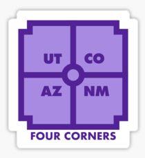 Four Corners - Purple Sticker