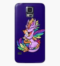 Funda/vinilo para Samsung Galaxy Rainbow Dragon con Kitty Friend