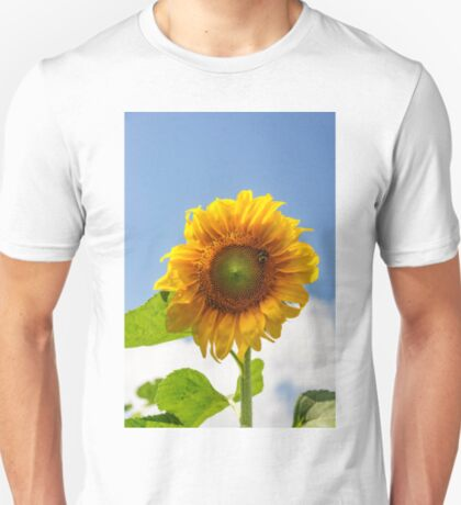 A busy bee on a Sunflower T-Shirt